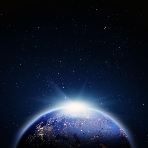 planet erde karte 3d rendering