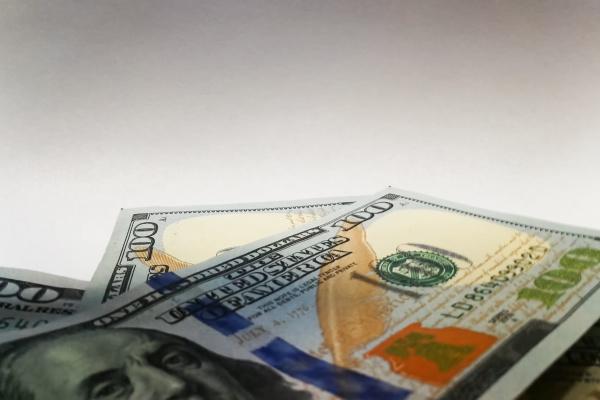 dollar dollars detail freisteller farbe closeup