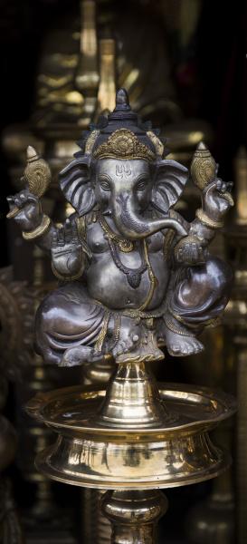 ganesha skulptur aus metall mannar
