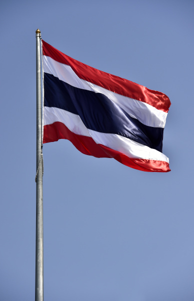 thailand fahne buriram thailand asien