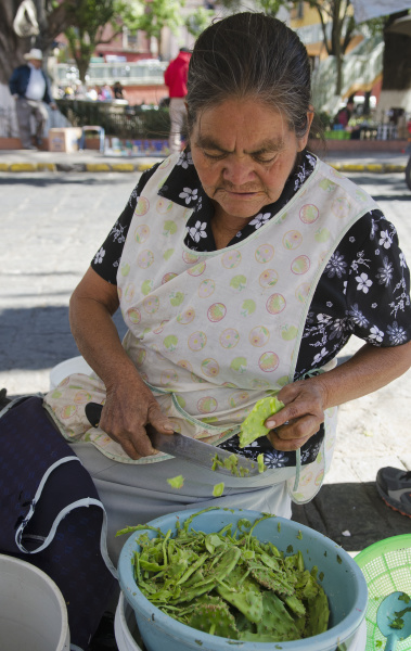 mexiko guanajuato senior mexican frau bereitet