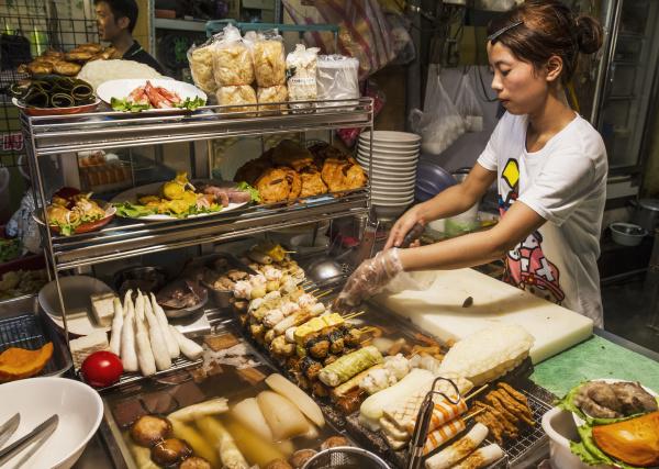 lebensmittelhaendler am linjiang street night market