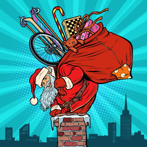 aktivitaeten und spiele weihnachtsmann mit geschenken