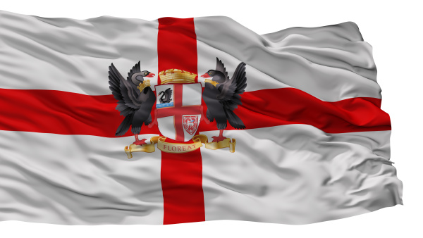 perth, city, flag, australien, isoliert, auf - 25825982