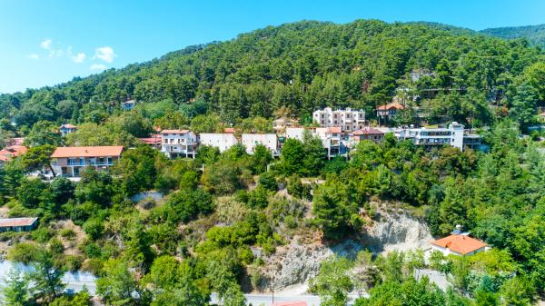 aerial pano platres dorf limassol zypern