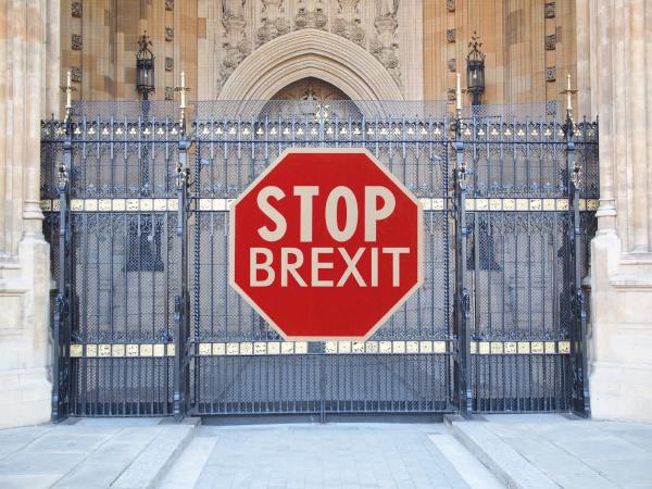 stopp brexit zeichen