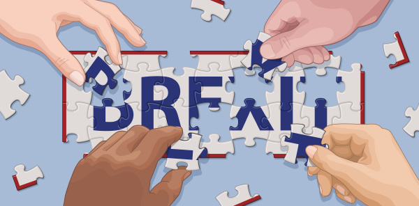 hands kooperiert um brexit puzzle zu