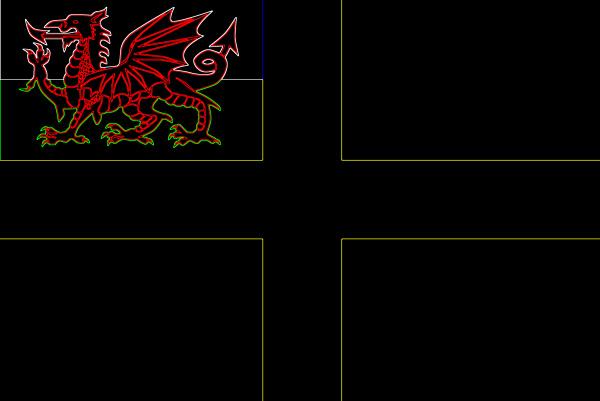 flagge von saint david in neon