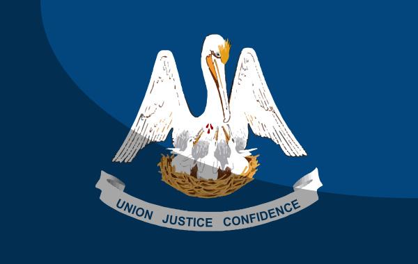 louisiana state flag mit schatten