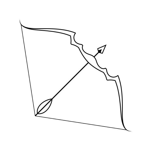 symbol von pfeil und bogen