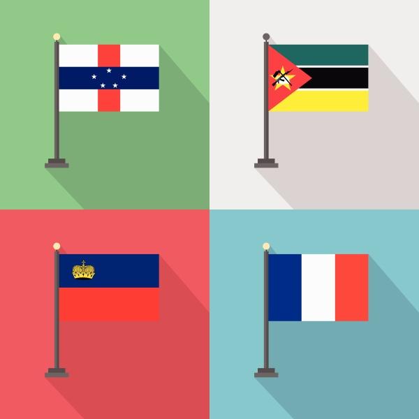 designvektor der weltlaenderflaggen