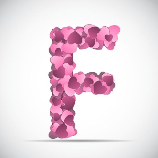 valentinstag alphabet der herzen vektor illustration