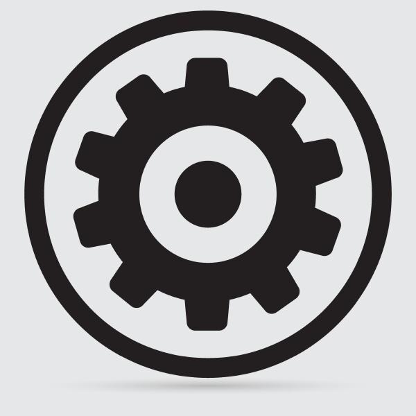 zahnraeder isoliertes objekt technische mechanische abbildung