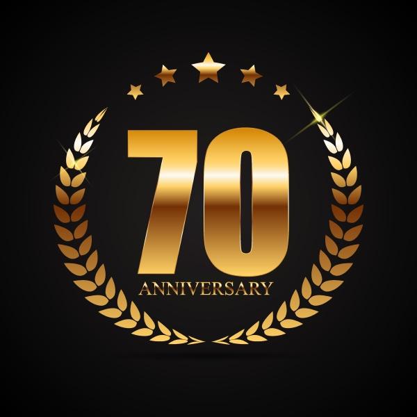vorlage logo 70 jahre jubilaeum vektor