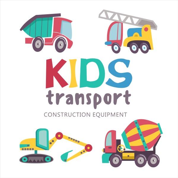 kindertransportsammlung vector illustration isoliert auf weissem