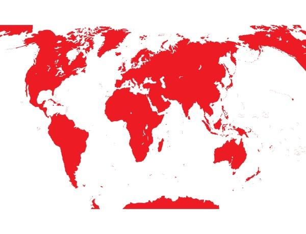 karte der welt vektor illustration eps10