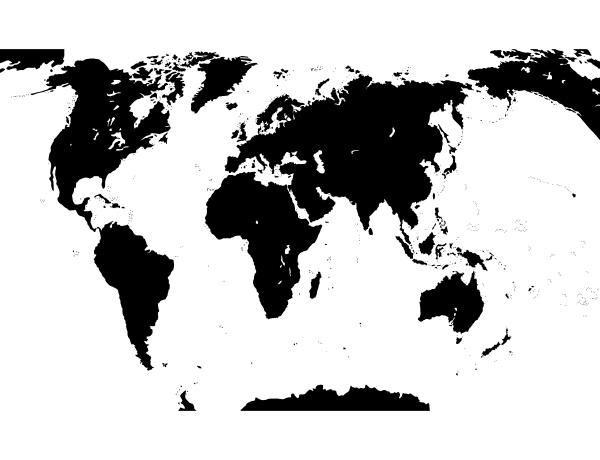 karte der welt vektor illustration