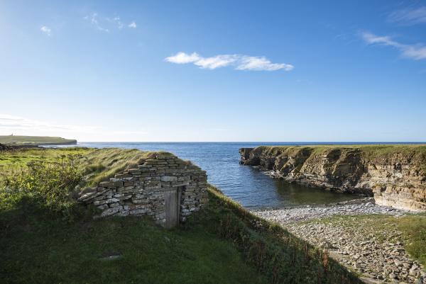 grossbritannien schottland orkney inseln birsay wiederaufbau