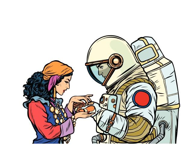 der wahrsager und ein astronaut isolieren