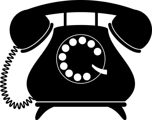 retro telefon silhouette
