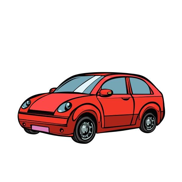 rotes auto strassenverkehr isolieren auf weissem