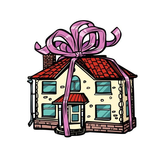 haus geschenk immobilien isolieren auf weissem