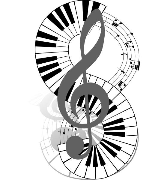noten stab mit klaviertastatur vektor illustration