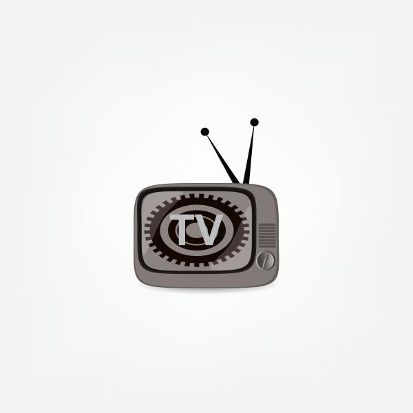 retro tv vektor