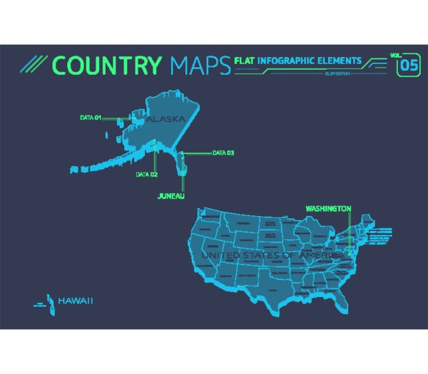 vereinigte staaten von amerika alaska hawaii