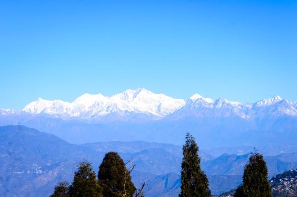 blick auf den himalaya die kanchenjunga