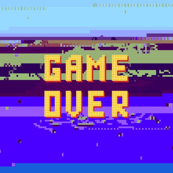 retro pixel spiel ueber suende auf