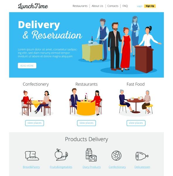 restaurant online lieferauftraege und fast food
