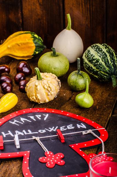 halloween, stillleben, von, kürbissen, inschrift, schatten - 27216944