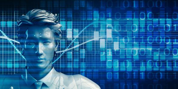asiatischer geschaeftsmann mit data analytics technologie