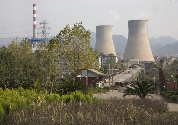china industrieller rauchhaufen