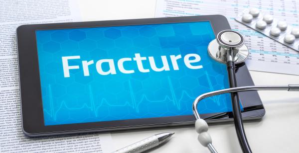 das wort fracture auf dem display