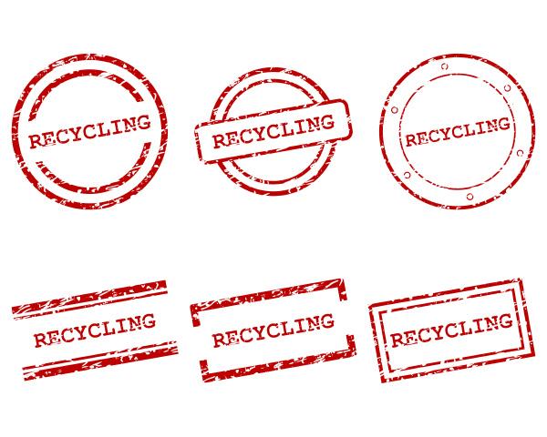 recycling briefmarken