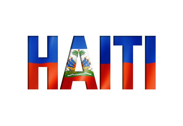 haitianische flagge textschriftart