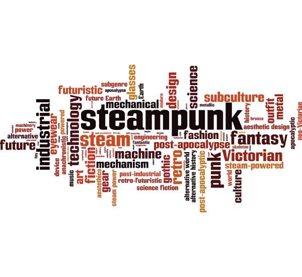 steampunk wortwolke