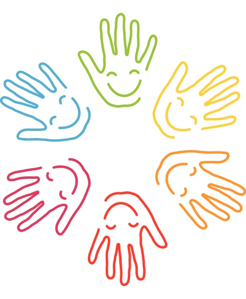 haende kinder kinderarzt laecheln hintergrund logo