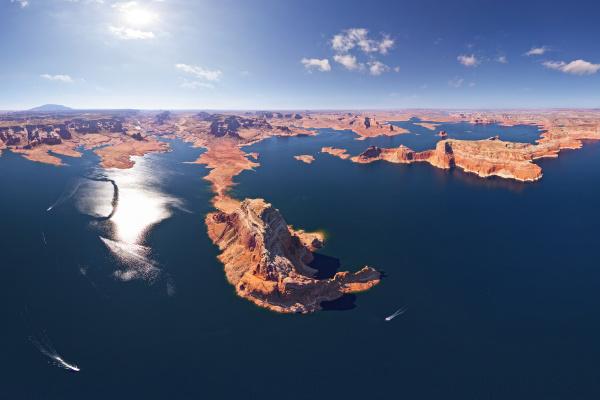 panoramablick auf den lake powell usa