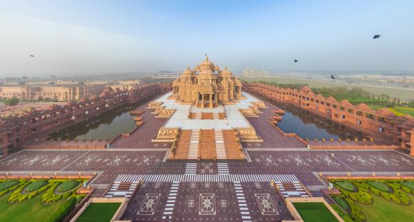 akshardham asien delhi geographie hinduismus indien