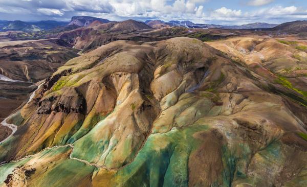 luftaufnahme des naturschutzgebiets fjallabak island