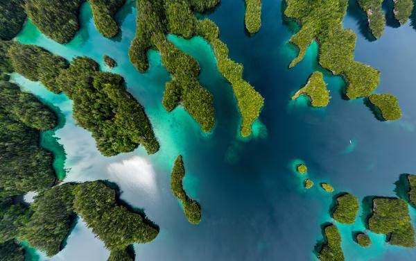 luftaufnahme oben von raja ampat indonesien