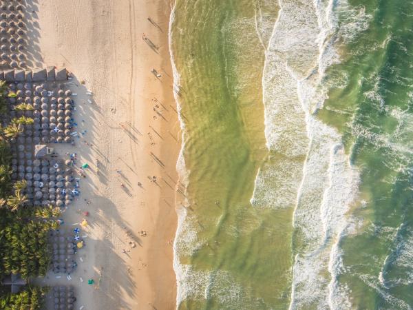 luftaufnahme des strandes von fortaleza