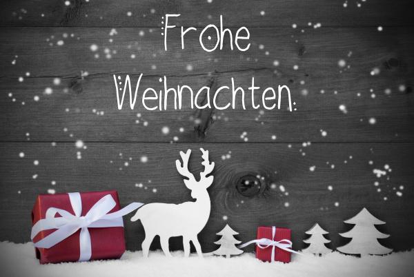reindeer, geschenk, baum, schneeflocken, frohe, weihnachten - 27456923