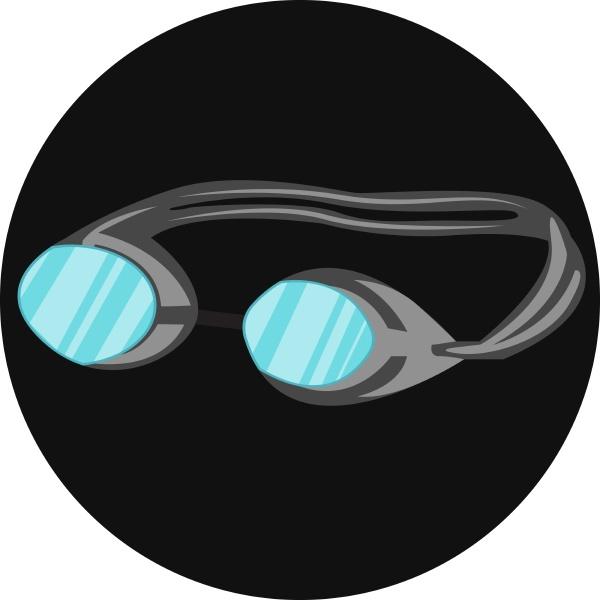 schwimmen brille vektor farbe illustration