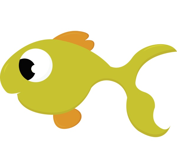 kleine gruene fisch vektor oder farbe