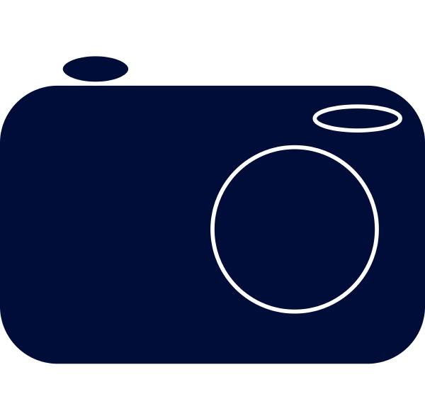silhouette eines kameravektors oder einer farbillustration