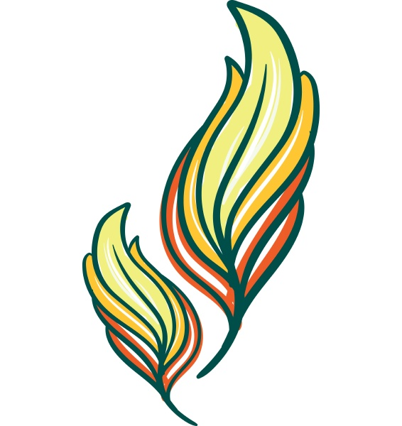 yellow, and, green, color, feather, vector - 27491831